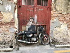 Penang-street-art-Boy-on-motorcycle