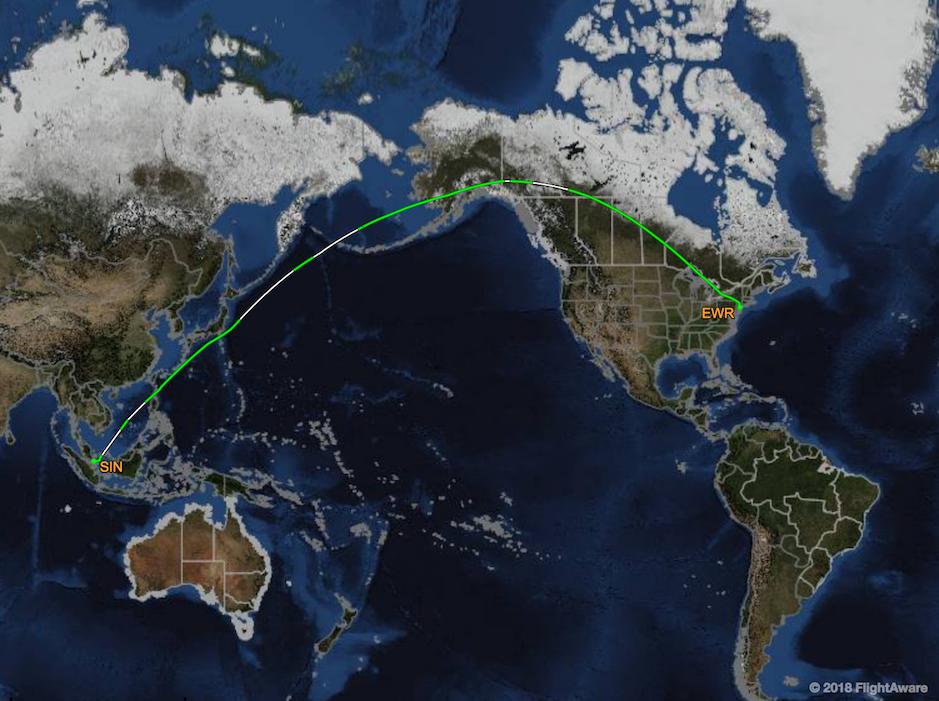 Trajet-SQ22-vol-non-stop-singapour-New York-Singapore-Airlines-A350-900